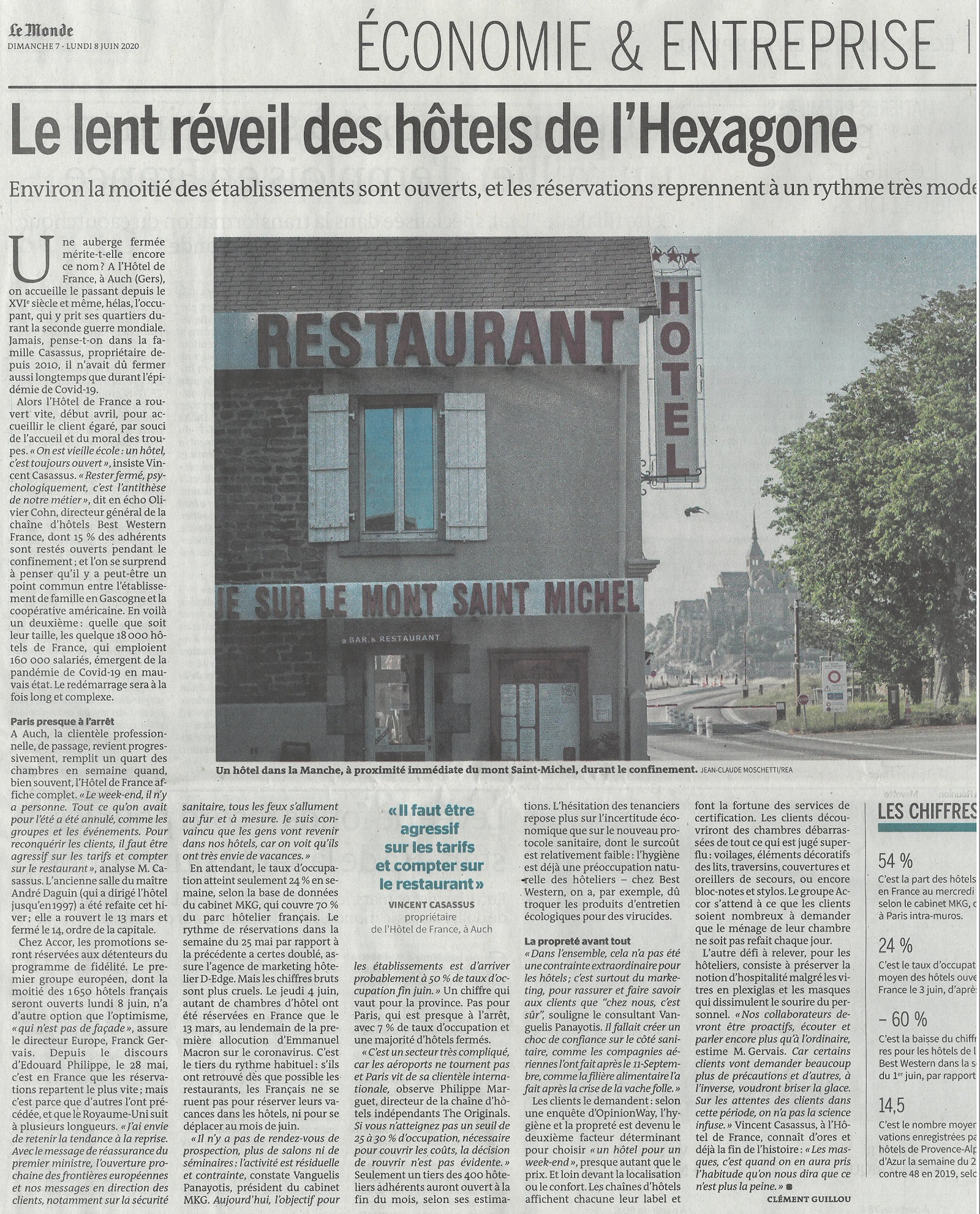 """Hotel de france Auch - Actualités - L'Hôtel de France dans """"Le Monde"""" J..."""