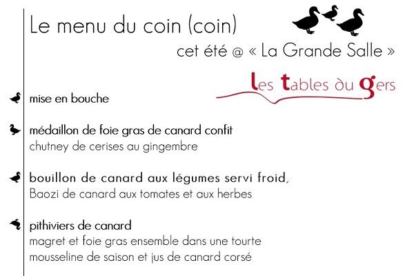 Hotel de france Auch - Offres du moment - MENU DU COIN (COIN) - 100% GERS!