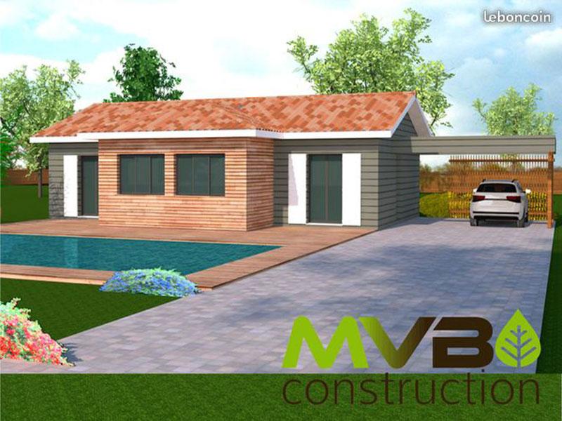 Terrains Maison contemporaine ossature bois
