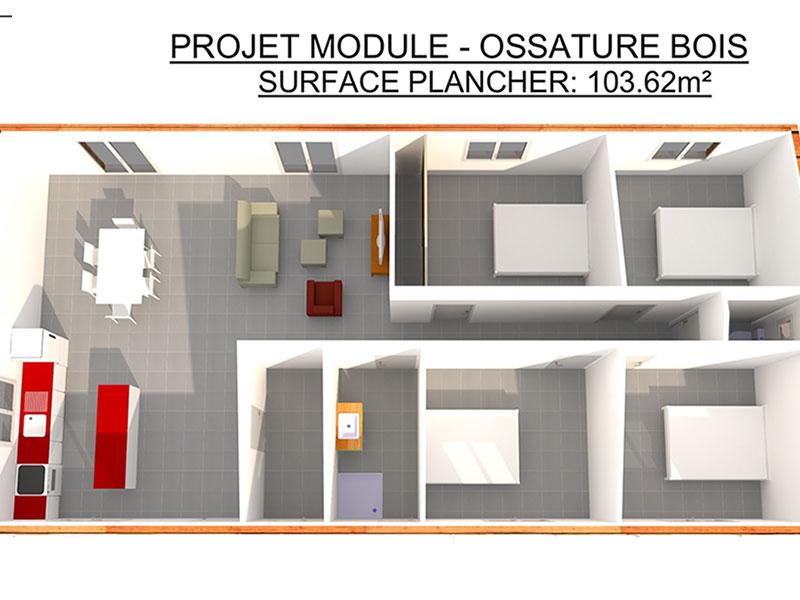 Terrains Maison avec terrain 5 pièces 100,49m²